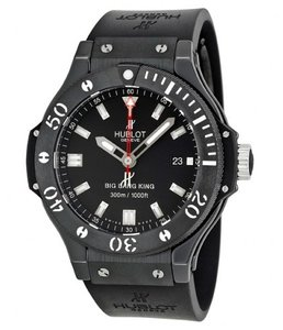 Hublot Big Bang Black Dial Rubber Strap Men's Watch 44MM 312.CM.1120.RX
