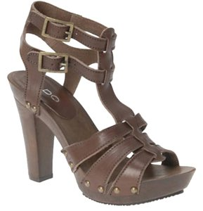 ALDO Gladiator Clog Boho Bohemian Brown Sandals