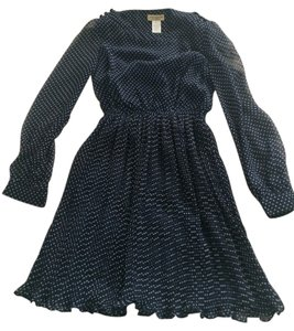 Moon Collection short dress Navy Blue/White Polka Dots Shop Ruche Vintage Dot on Tradesy