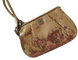 Coach Sequin Glitzy Petite Wristlet in Gold