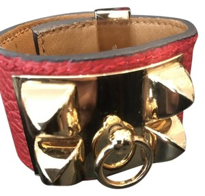 Hermès Hermes CDC Cuff in Red with Gold Hardware