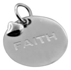 Other Round Faith Tag- Sterling Silver