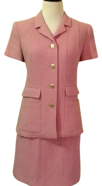 Item - Pink Silver Button Skirt Suit Size 6 (S)