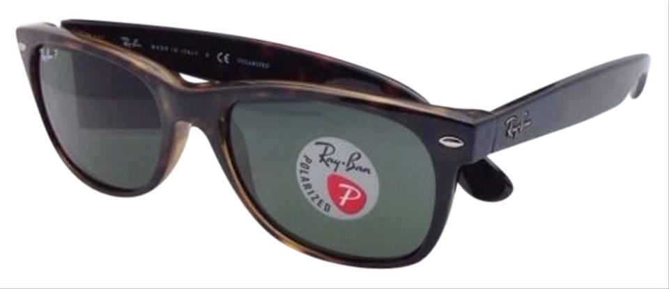 f129a6a29f Ray-Ban Polarized Rb 2132 902 58 New Wayfarer 55-18 Havana W  Green ...