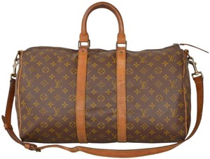 Louis Vuitton Duffle Gym Keepall Suitcase Strap Monogram Travel Bag