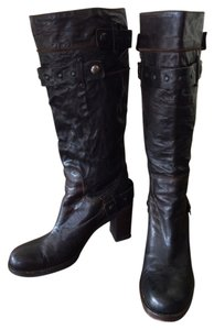 O.X.S. Leather Studded Brown Boots