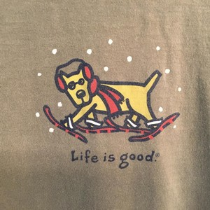 Life is Good Mens T Shirt Dark Green