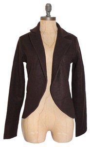 Anthropologie Jacket Hazel Wool Blend Solid BROWN Blazer