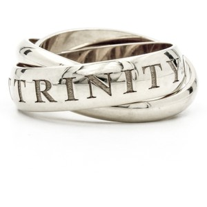 Cartier Cartier Or Amour et Trinity 3-band Ring in 18k White Gold Size 7 (55)