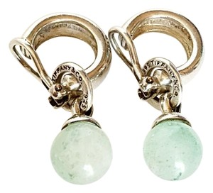 Tiffany & Co. Rare Aventurine Clip Earrings