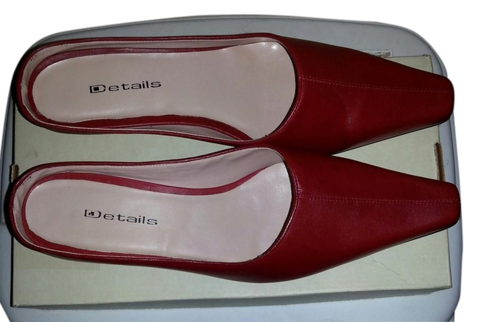 Details Speigel Red No Bought From Speigel Details Mules/Slides 844bc8