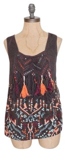 Anthropologie Akemi + Kin Embellished Top BROWN