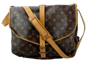 Louis Vuitton Monogram Canvas Saumur 35 Cross Body Brown Messenger Bag