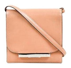 The Row Tan Silver Tone Leather Minimalist Classic Flap Shoulder Bag