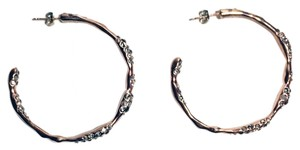 Alexis Bittar Crystal Encrusted Hoop Earrings
