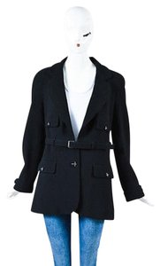 Chanel 07a Crepe Wool Black Jacket