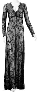 SUNSET Lace Black Maxi Dress