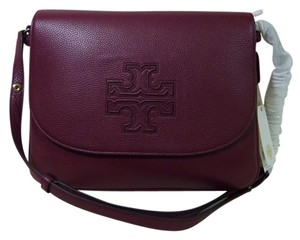 Tory Burch Burgundy Messenger Bag