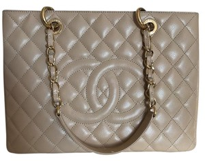 Chanel Grand Shopper Gst Tote in Taupe