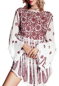 Free People Floral Embroidered Tunic