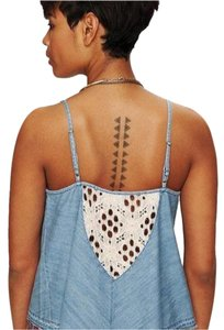Free People Top Chambray / blue
