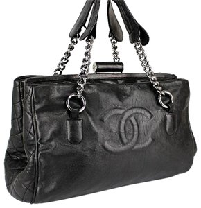 Chanel Cc Logo Lambskin Leather Chain Shoulder Bag
