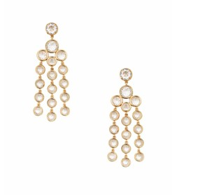 Kate Spade NWT KATE SPADE SUBTLE SPARKE CHANDELIER EARRINGS GOLD CLEAR W BAG