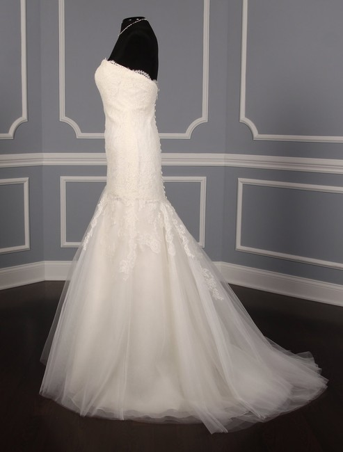 Anne Barge Pearl (Light Ivory) Chantilly Lace and Tulle Hyacinthe Feminine Wedding Dress Size 10 (M) Anne Barge Pearl (Light Ivory) Chantilly Lace and Tulle Hyacinthe Feminine Wedding Dress Size 10 (M) Image 4