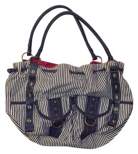 Express Tote in Navy and White