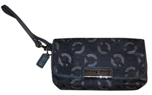 Coach Wristlet in Grey/ Silver