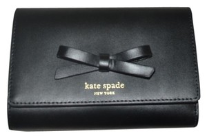 Kate Spade NIB KATE SPADE CALLIE SAWYER STREET WALLET CLUTCH BAG BLACK LEATHER