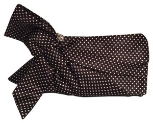 Steve Madden Polka Dot Rhinestone Night Out Bow Detail Black with white Dots Clutch