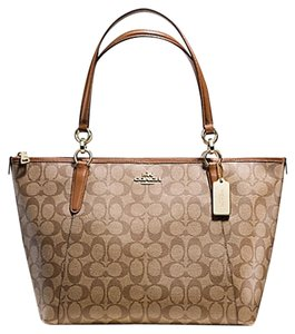 Coach Satchel Leather Satchel Handbag 35808 Tote in Brown SADDLE gold tone