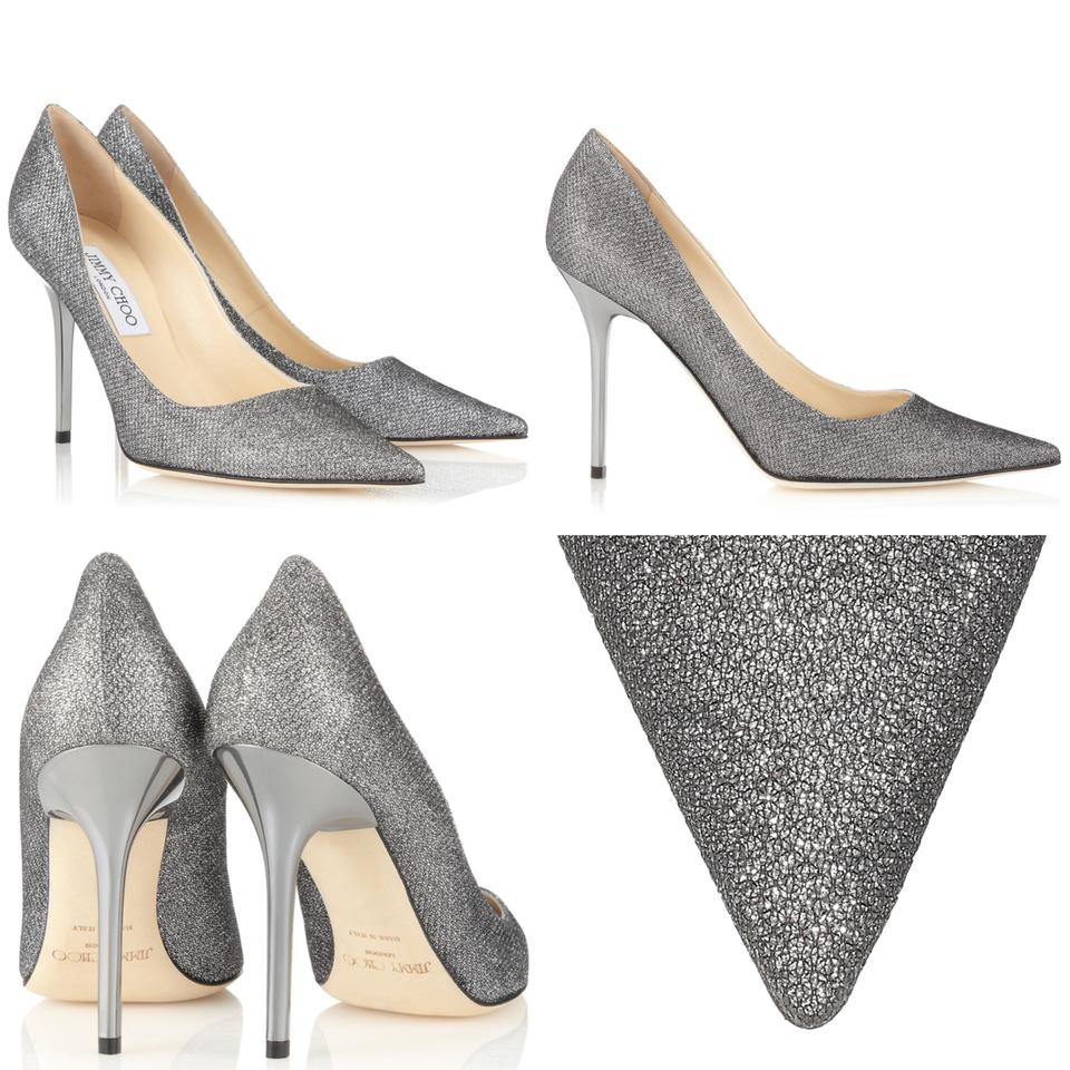 e667db7ca83 Jimmy Choo Gray Abel Anthracite Lame Glitter Pointy Pumps Size US 8.5  Regular (M