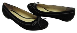 Talbots Size 7.50 M Suede Leather Black Flats
