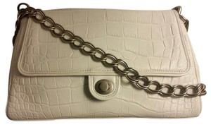 Donna Karan Croc-effect Chain Leather Shoulder Bag