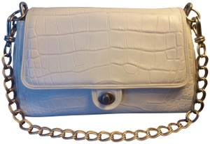 2dcb1ec5d7c Donna Karan Croc-effect Chain Leather Shoulder Bag