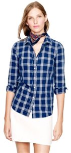 J.Crew Button Down Shirt Blue Plaid
