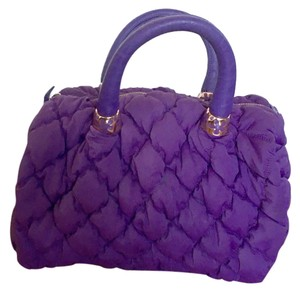 Furla Handbag Quilted Christmas Gift Satchel in Purple