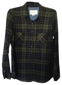 BCBGeneration Button Down Shirt Green