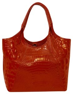 Brahmin Brahim Leather Shopper Tote in Party Red