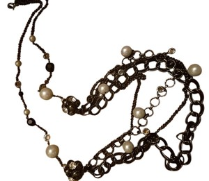 Macy's Long embellished chain necklace