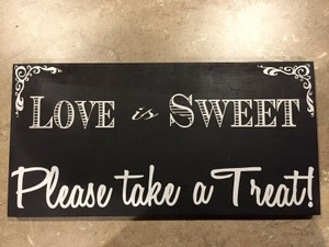 Sign For Candy Table