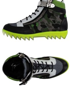 Giuseppe Zanotti Green white silver Athletic