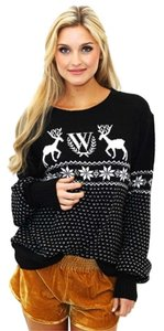 Wildfox Deer Snowflakes Sweater