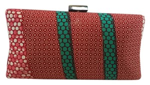 Mashika Purse Red Print Clutch