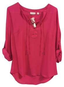 New York & Company Peasant Top Pink
