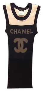 Chanel Top Navy/White/Black