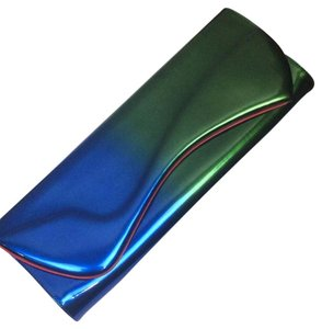 Christian Louboutin Blue And Green Clutch