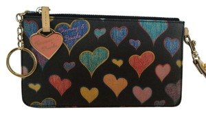 Dooney & Bourke Wristlet in Crayon Hearts